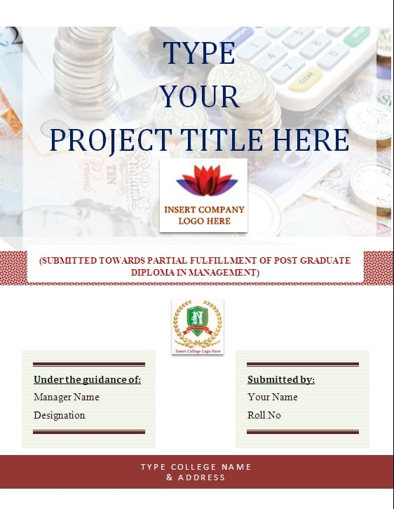 6 Project Cover Page Templates Free Sample Templates