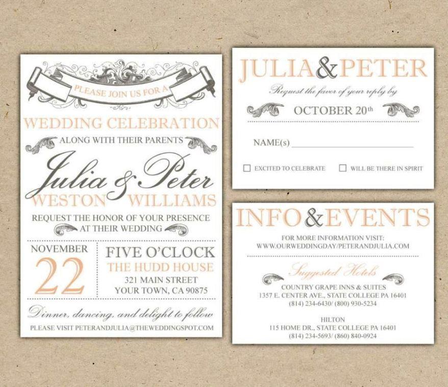 Free Wedding Invitation Suite Templates Sampletemplatess
