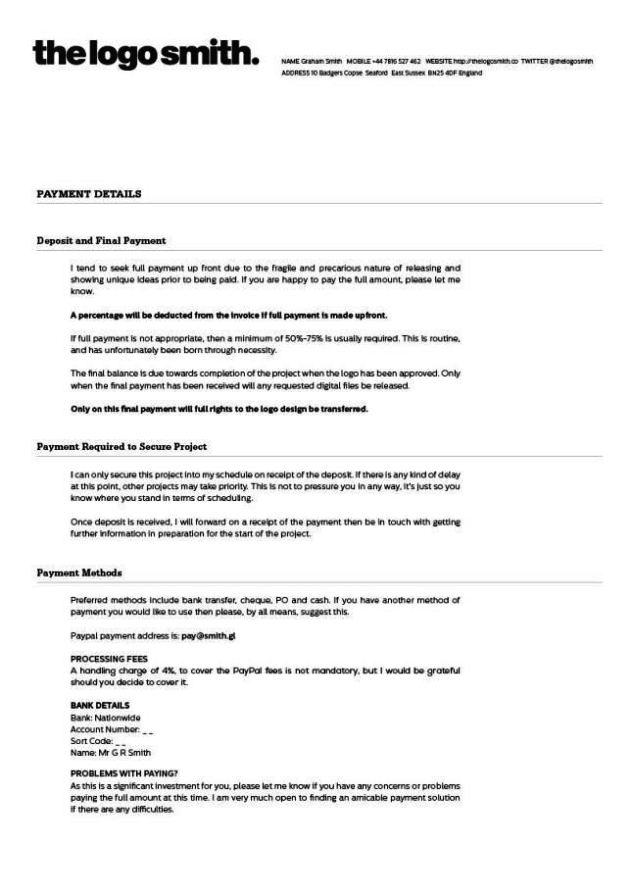 sample graphic design contract