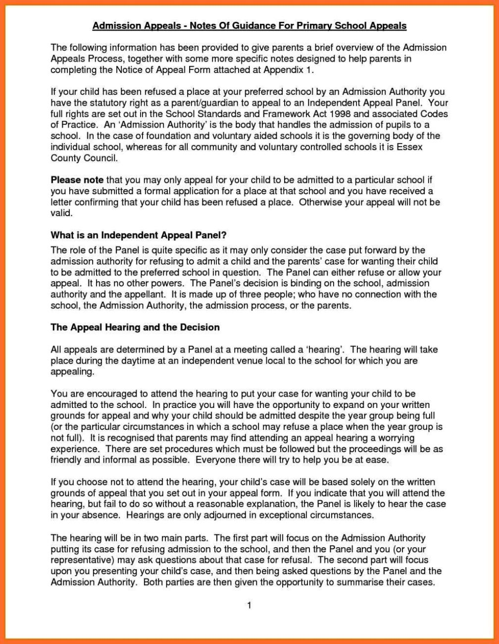 admission appeal letter template school how to write
