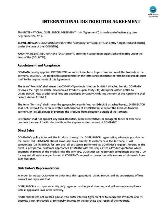 Distribution Agreement Template Free  Jojo\u0027s Black Shark Profile