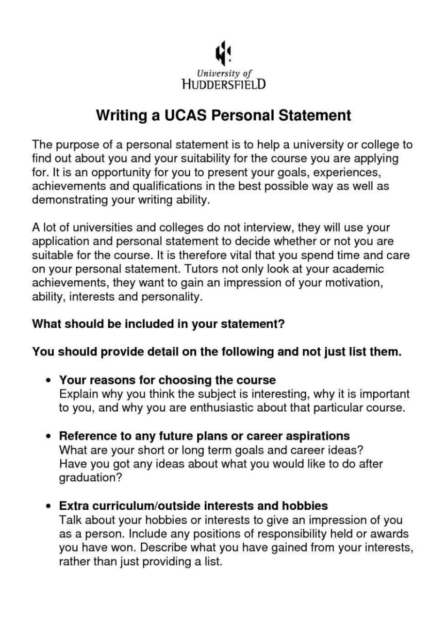 university personal statement examples