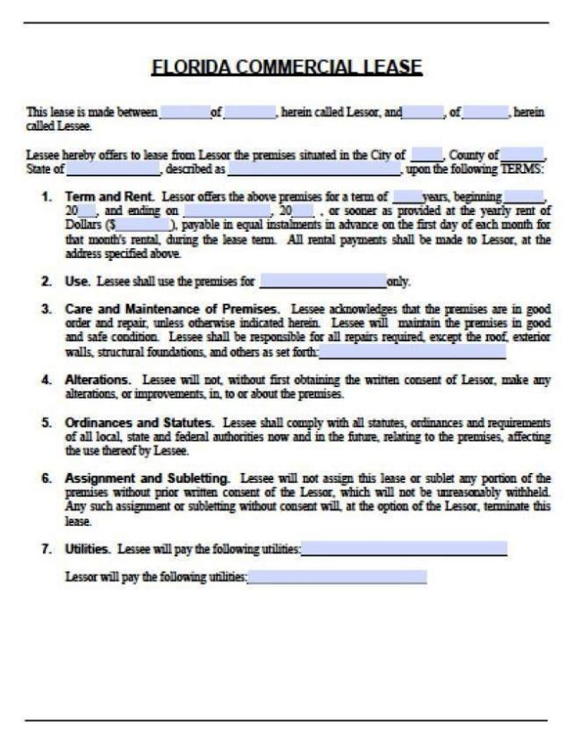 Net Lease Agreement Template Colbro