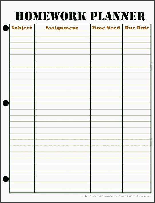 Assignment Sheet Template - Resume Template Ideas