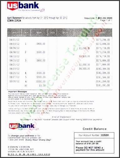 Sample Bank Statement Pdf - bank statements templates