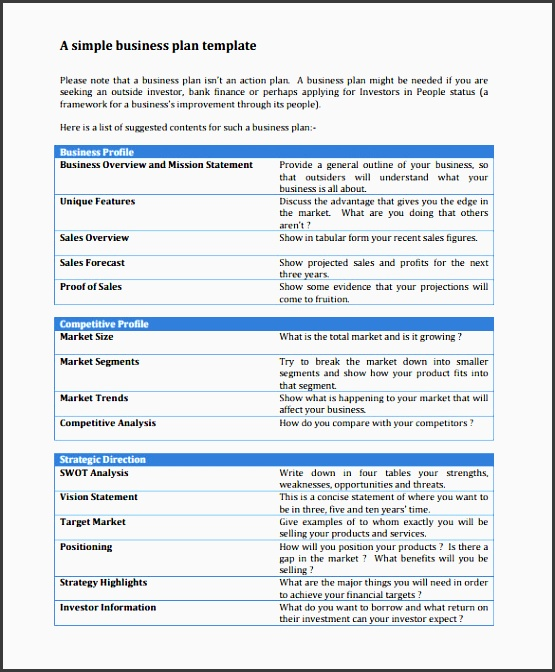8 Business Action Plan Templates - SampleTemplatess - SampleTemplatess - sample business action plan