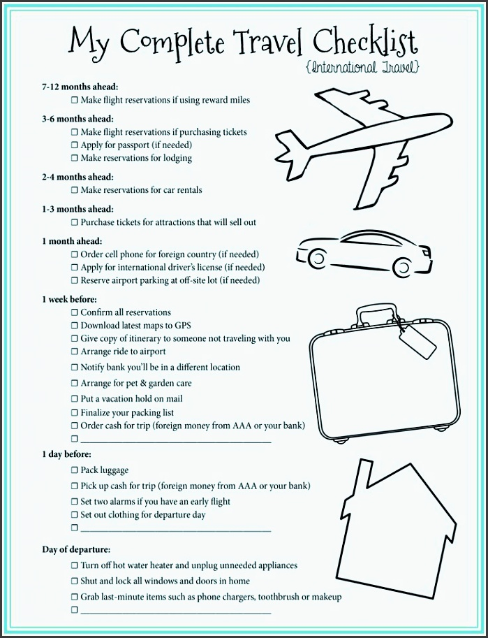 Packing For A Trip Checklist cvfreepro