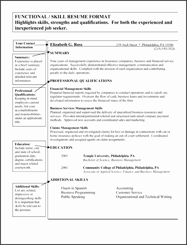 knowledge skills and abilities resume example