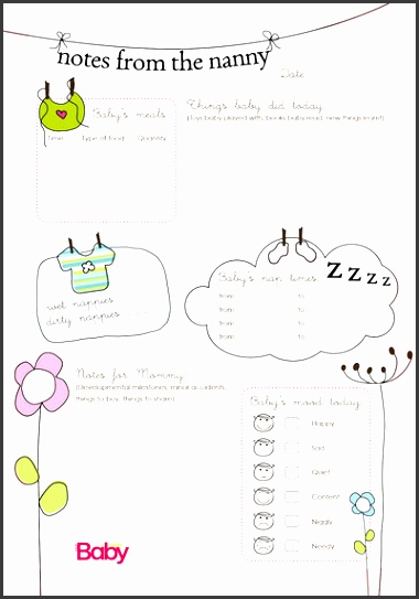 Nanny Daily Log Templatenanny daily log template emergency contact