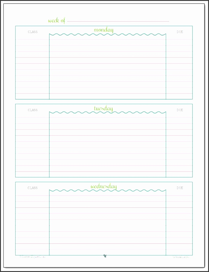 4+ Daily Schedule Template for Students - SampleTemplatess - school scheduling template