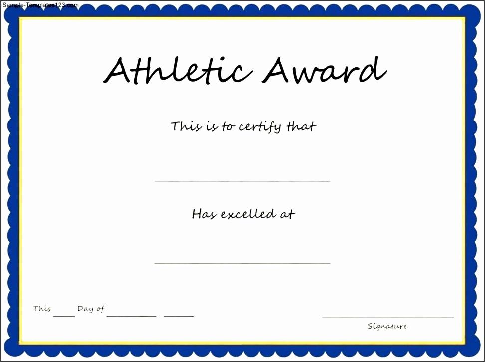 Sports Certificate In Pdf - Resume Template Sample
