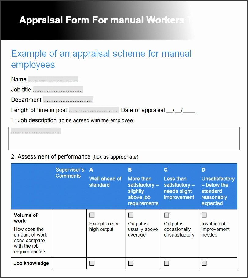 Free Printable Employee Evaluation Form - Fiveoutsiders