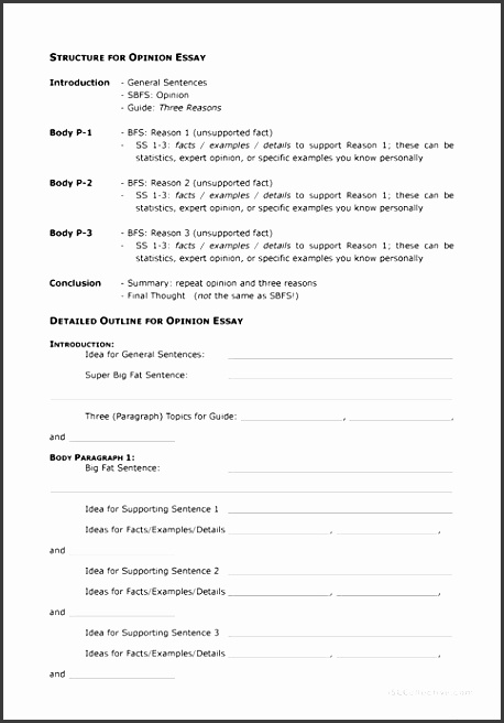 essay template outline