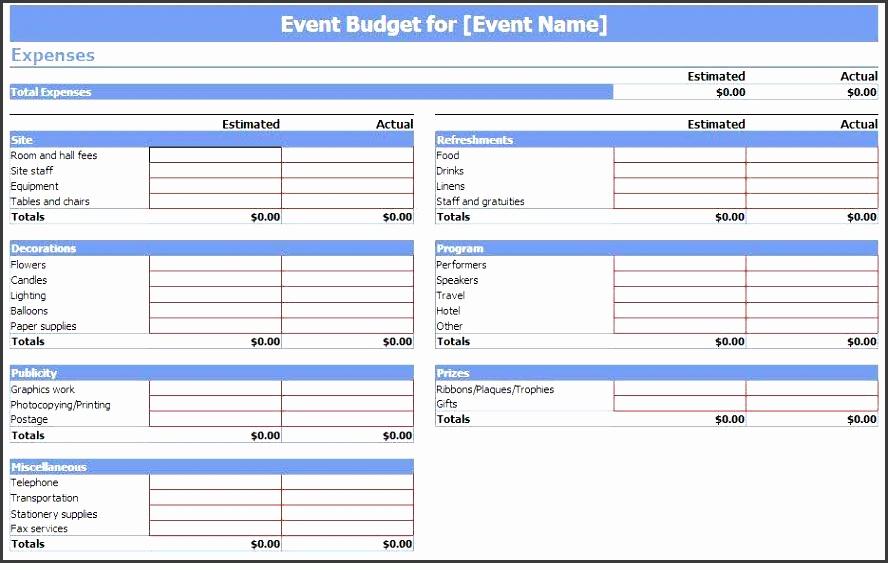 Event Expense Report Template Costumepartyrun