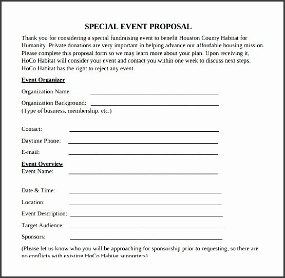 Event Proposal Template Free - Arch-times - event proposal template free