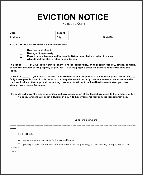 6+ Eviction Notice Templates - SampleTemplatess - SampleTemplatess - eviction notice template word