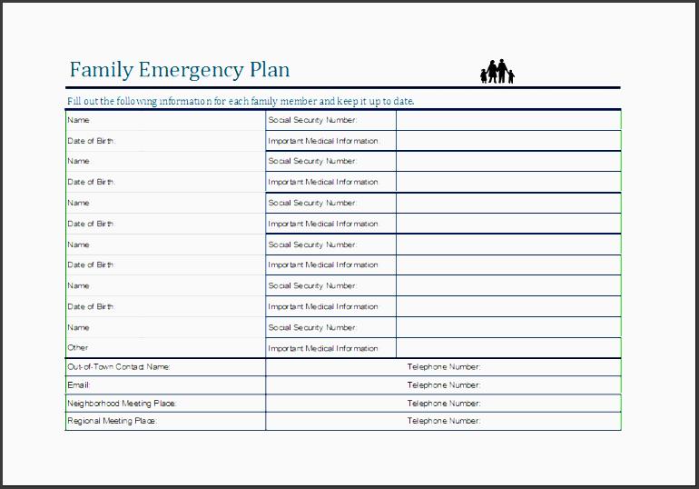 Family Emergency Plan Template Costumepartyrun - Family emergency plan template
