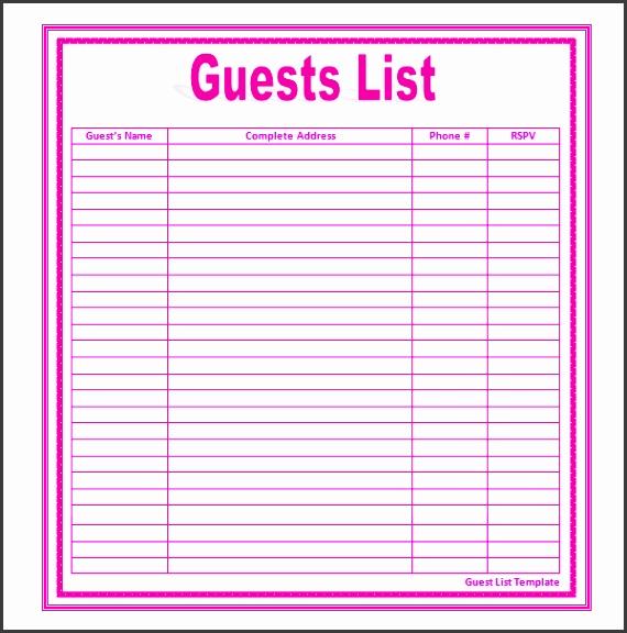 guest list online