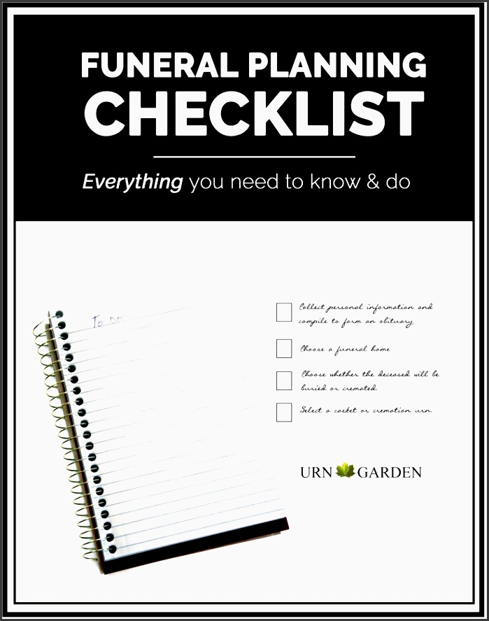Modern Funeral Checklist Template Vignette - Best Resume Examples by - funeral plans checklist