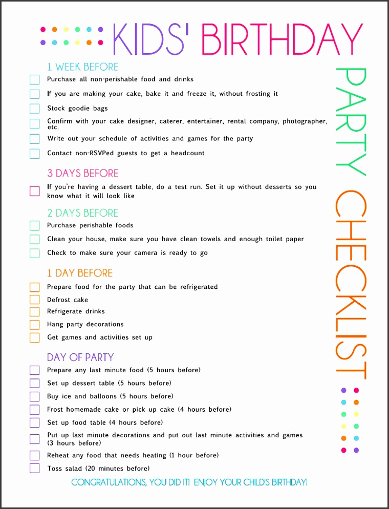 Amazing Birthday Party Guest List Pictures - Administrative Officer - party guest list template