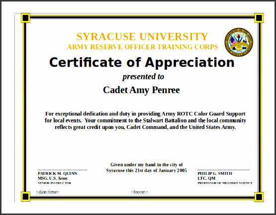 certificate of appreciation ppt - Canreklonec - army certificate of training template