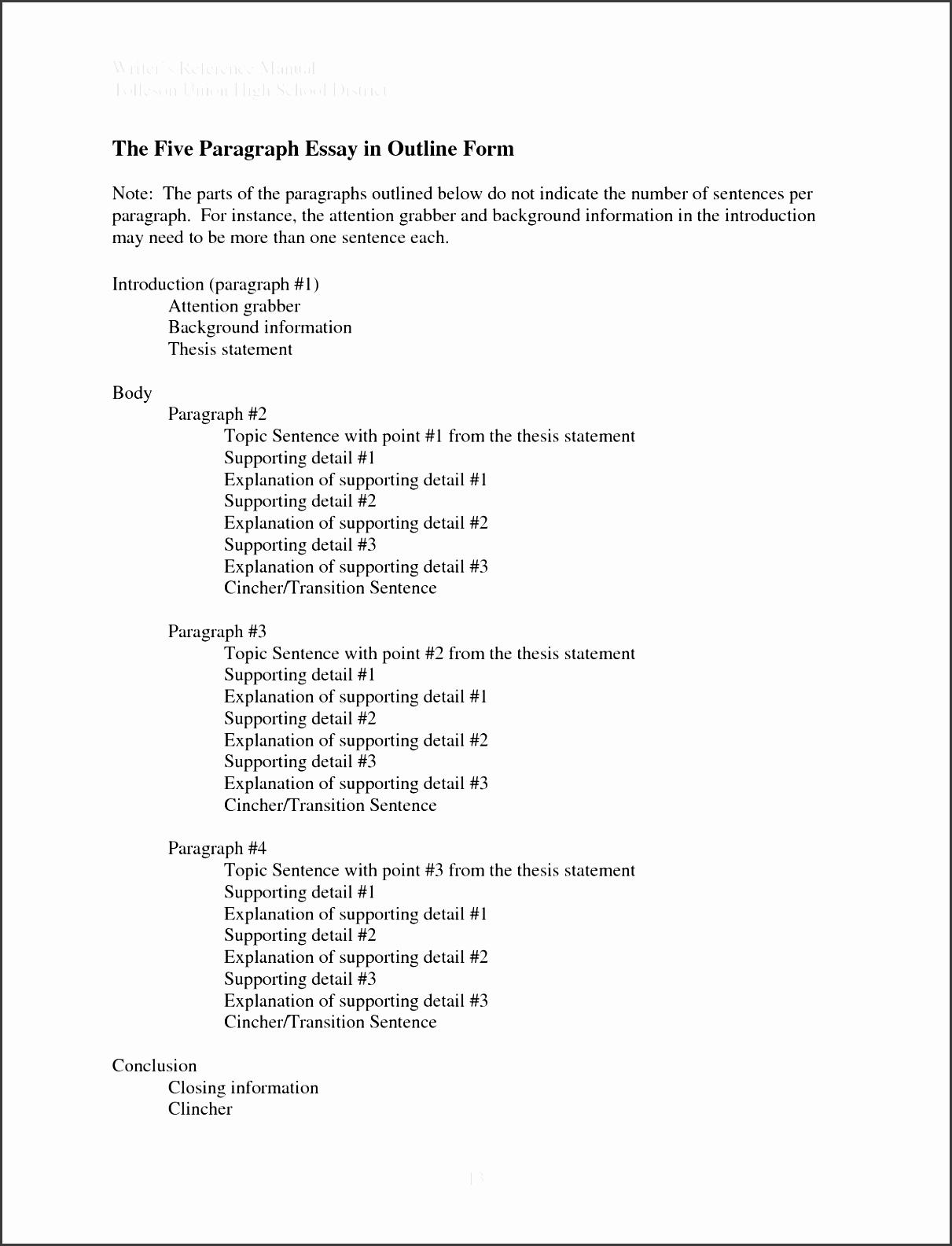 debate essay format