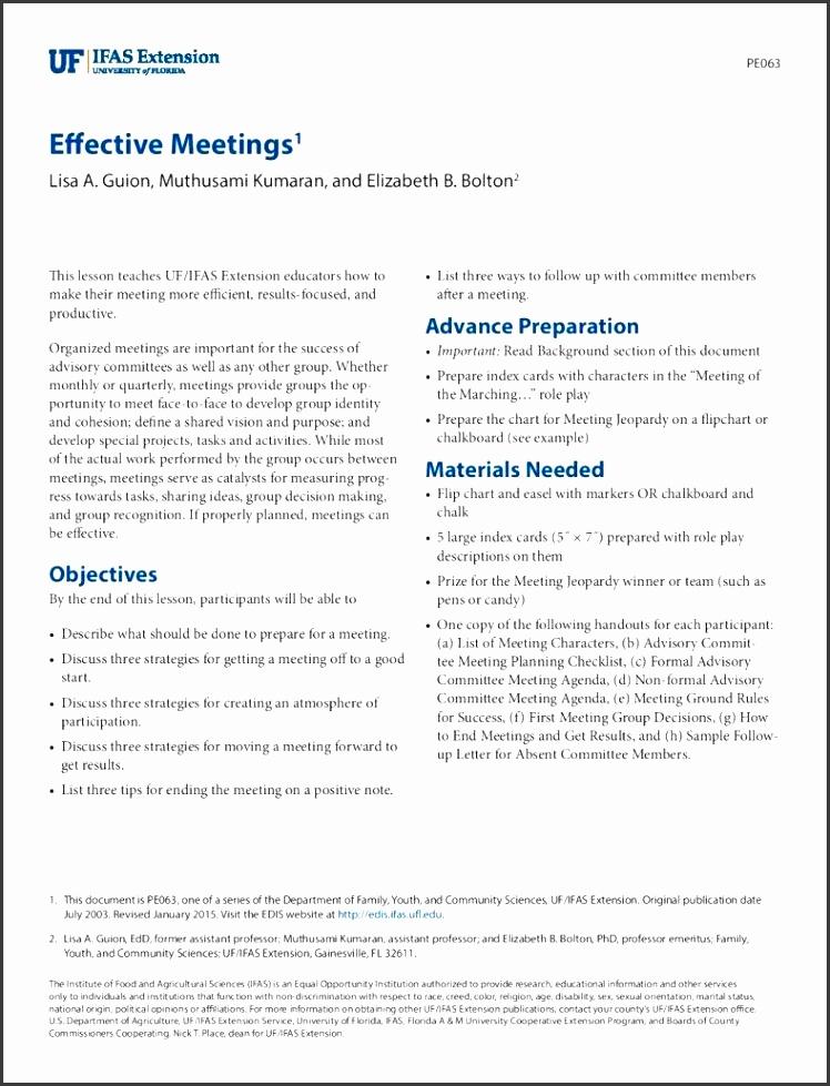 resume lead meetings example