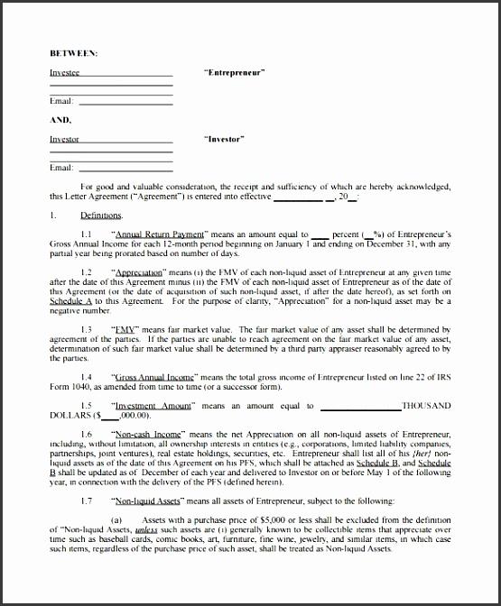 4+ Investors Agreement Sample - SampleTemplatess - SampleTemplatess - investor contract sample
