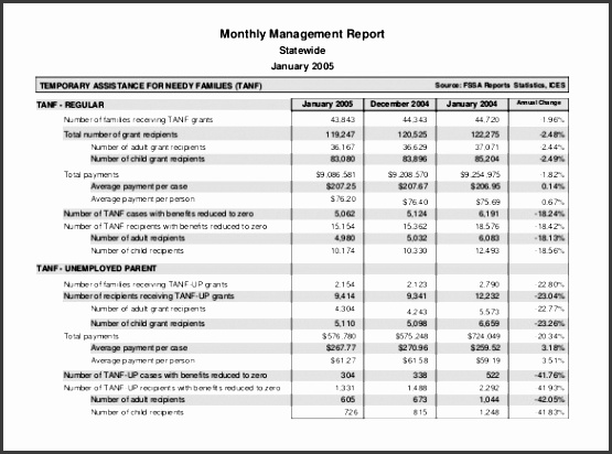 6 Monthly Report format Template Easy to Customize