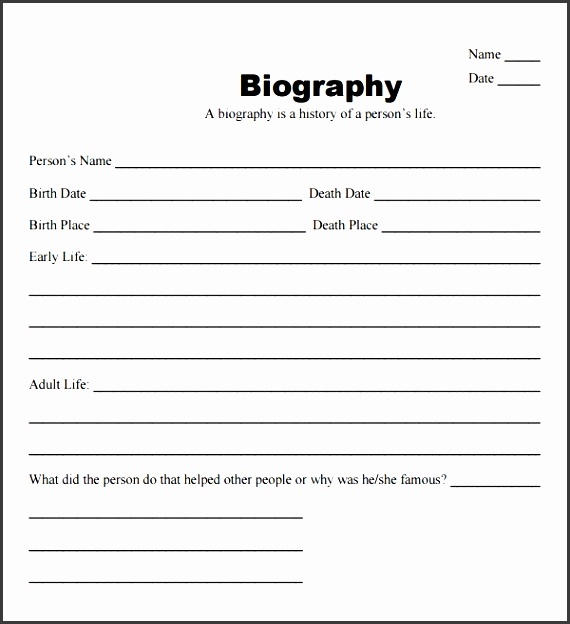 9 Ms Word Biography Template - SampleTemplatess - SampleTemplatess