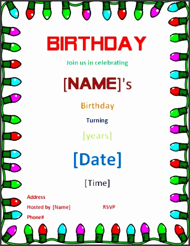 10 Ms Word Birthday Party Invitation Template - SampleTemplatess