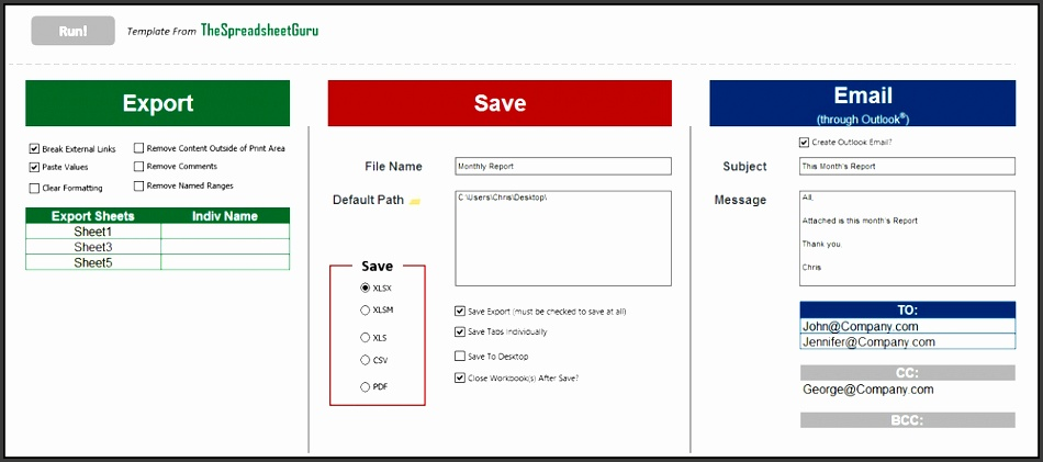 8 Outlook Newsletter Template In Excel - SampleTemplatess - outlook newsletter template