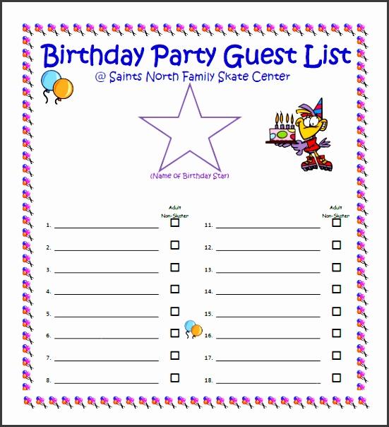 Birthday Party Guest List - Unitedijawstates