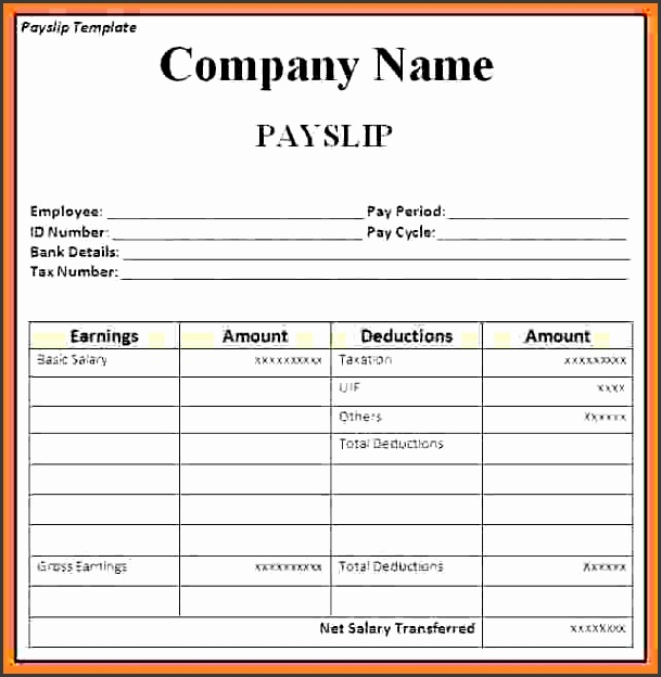 payslip template ireland - Selol-ink