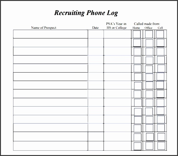 Phone Call Log Template - Resume Template Sample - phone call sheet template