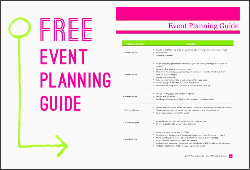 sample checklist for event planning