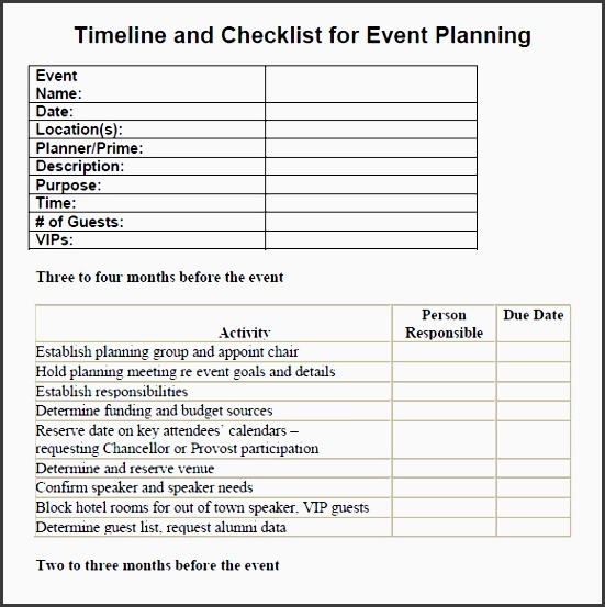 7 Printable Conference Planning Checklist - SampleTemplatess - conference planner template