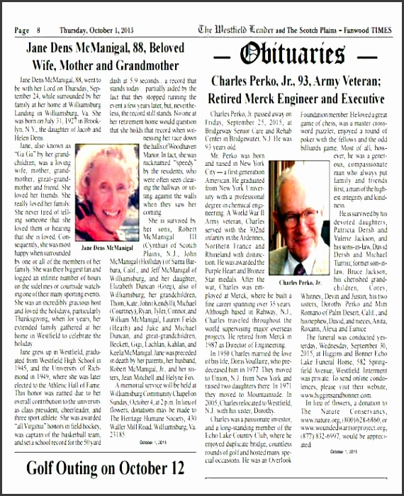 10 Printable Obituary Template - SampleTemplatess - SampleTemplatess