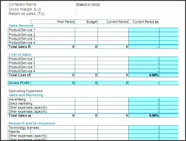 7 Profit and Loss Statement Template - SampleTemplatess