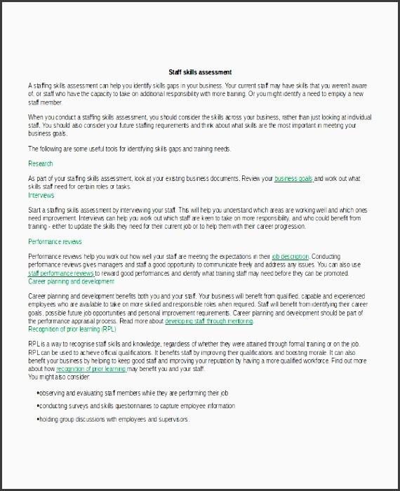 Career Assessment Template - Templates - skills assessment template