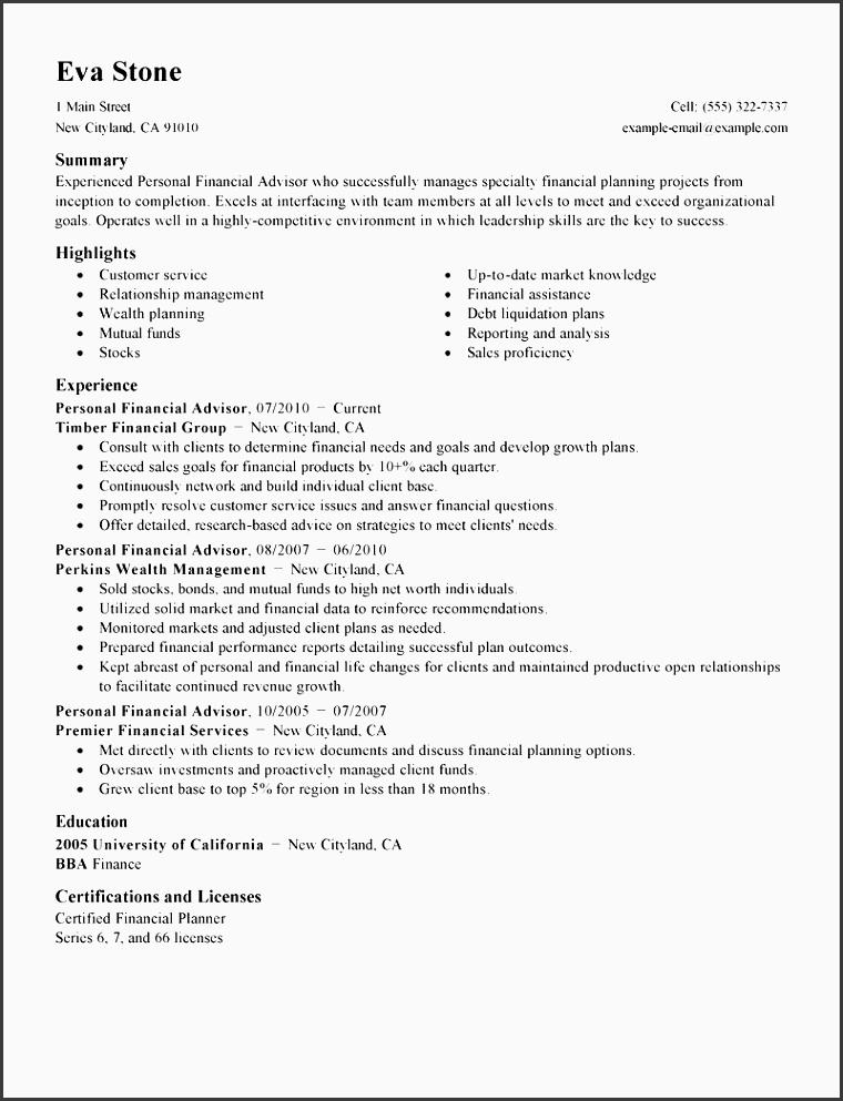 resume template xls