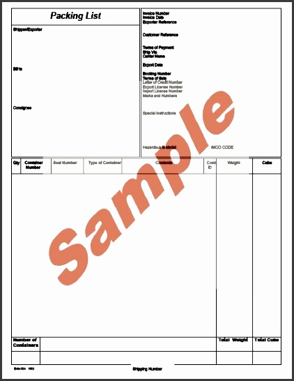 7 Shipping Packing List Template - SampleTemplatess - SampleTemplatess - packing list sample