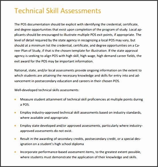 Technical Assessment Template Employment Interview Assessment Form - technical assessment template