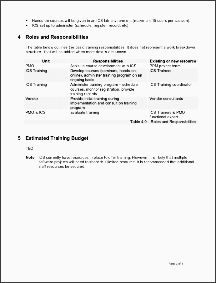 7 Staff Training Plan Sample - SampleTemplatess - SampleTemplatess - Sample Training Agenda