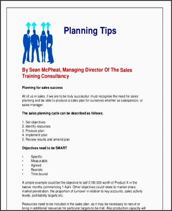 How To Write A Sales Plan Template cvfreepro