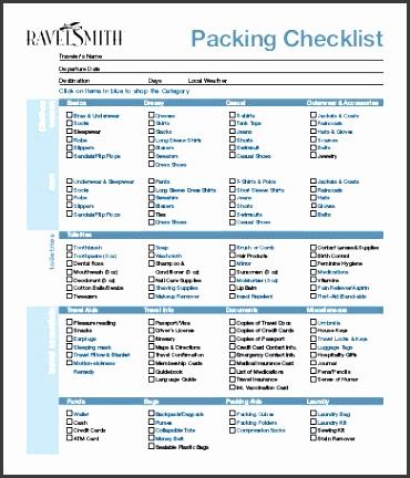 blank packing list template - Apmayssconstruction
