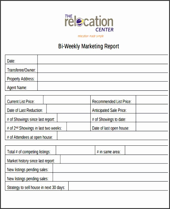 10+ Weekly Marketing Report Templates - SampleTemplatess - sample marketing report templete