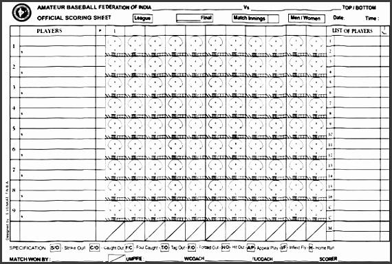 6 Baseball Score Sheet Template - SampleTemplatess - SampleTemplatess