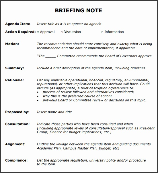Briefing Note Template | kicksneakers.co