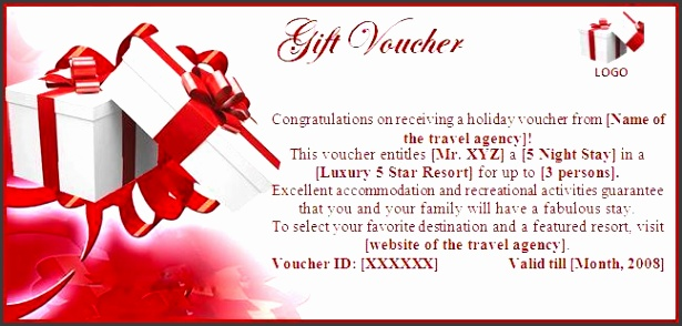 5 Christmas Gift Voucher Template Free Download - SampleTemplatess - Travel Gift Certificate Template Free
